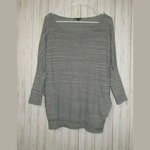 L Express Dolman Sleeve Grey Heather Sweater